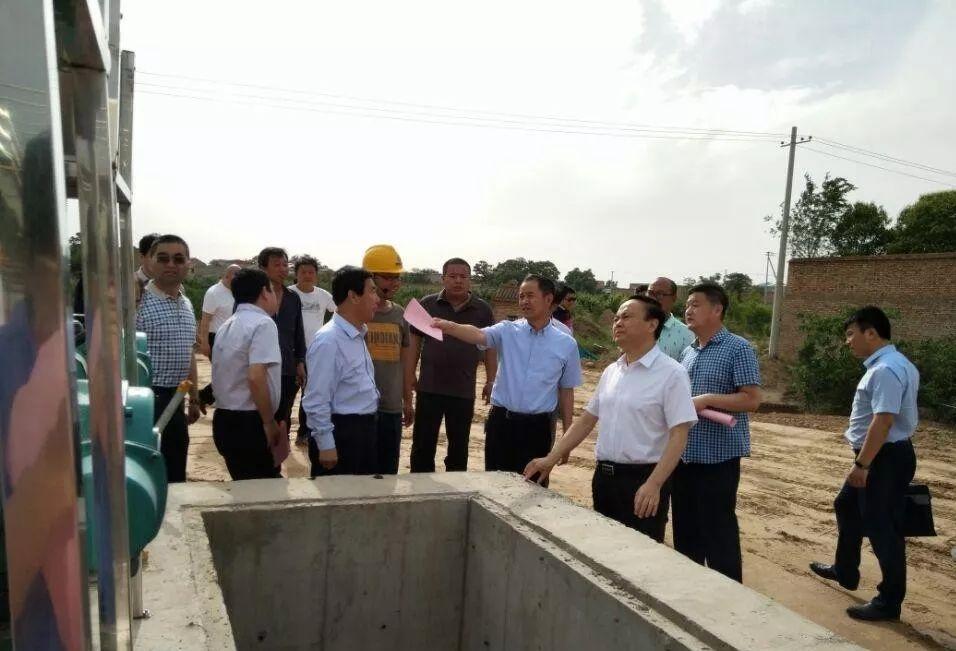 渭南市委常委、常务副市长张建军到水环境公司大荔城区污水厂调研