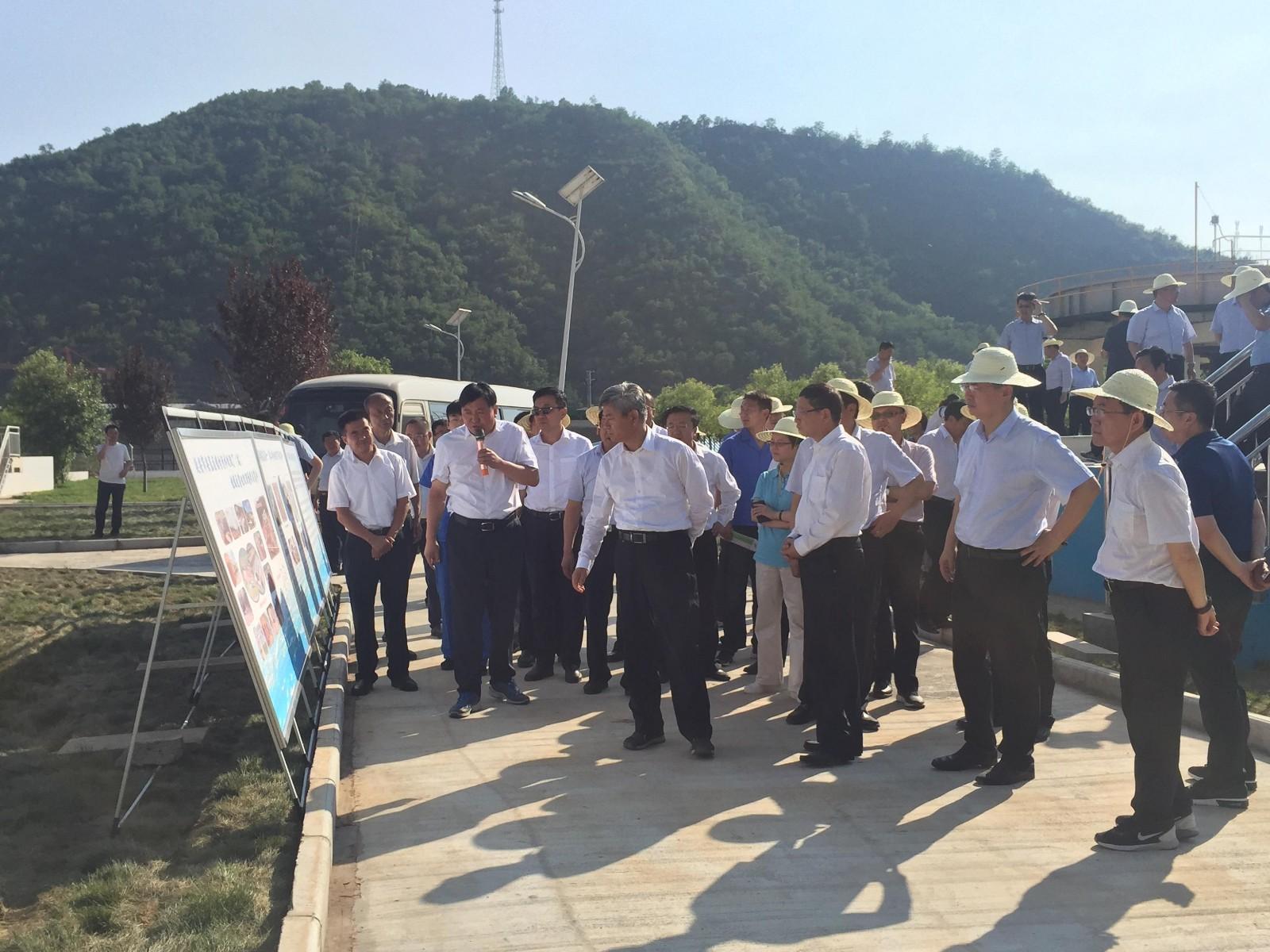 省委常委、延安市委书记徐新荣视察水环境公司安塞项目